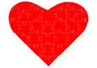 imagem quebra-cabeça de coração