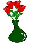 imagem rosas em um vaso