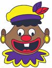 imagem rosto maluco de Zwarte Piet