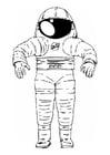 Página para colorir roupa de astronauta