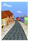 imagem rua de vilarejo