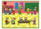 imagem sala de aula multicultural