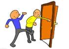 imagem segurar a porta aberta