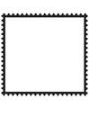 Página para colorir selo retangular