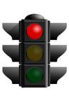 imagem semáforo vermelho