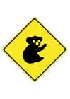 imagem sinal de trânsito - coala