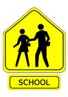 imagem sinal de trânsito - escola