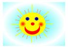 imagem sol sorridente