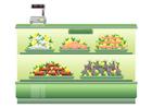 imagem supermercado - peixaria