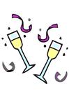 imagem taças de champanhe
