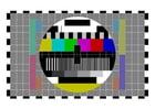 imagem tela de teste da tv