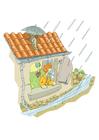 imagem temporal e chuva