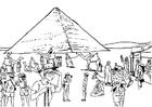 Página para colorir turismo no Egito