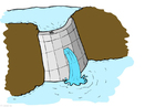 imagem usina hidroelétrica - açude