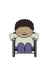 imagem usuário de cadeira de rodas