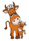 imagem vaca e terneiro