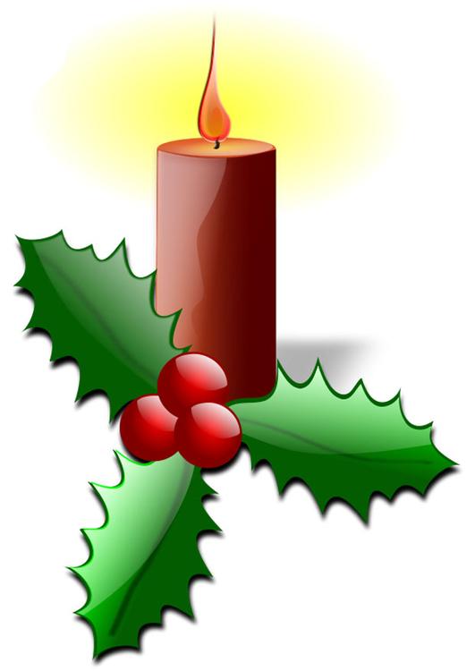 Imagem Vela De Natal Com Azevinho Imagens Gratis Para Imprimir
