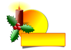 imagem vela de Natal