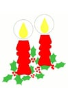 imagem velas de Natal