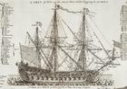 imagem veleiro de guerra de três mastros