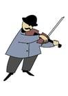imagem violinista