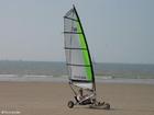 Foto windsurf de areia
