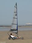 Foto windsurf na areia