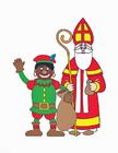 imagem Zwarte Piet e São Nicolau