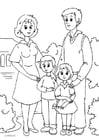 Página para colorir 1. família