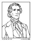 Página para colorir 10 John Tyler
