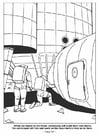 Página para colorir 10 - vivendo e trabalhando na lua