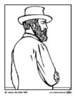 Página para colorir 20 James Garfield
