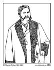 Página para colorir 21 Chester Arthur