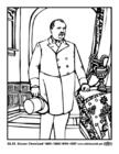 Página para colorir 22 - 24 Grover Cleveland