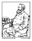 Página para colorir 23 Benjamin Harrison