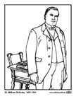 Página para colorir 25 William McKinley