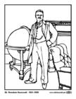 Página para colorir 26 Theodore Roosevelt
