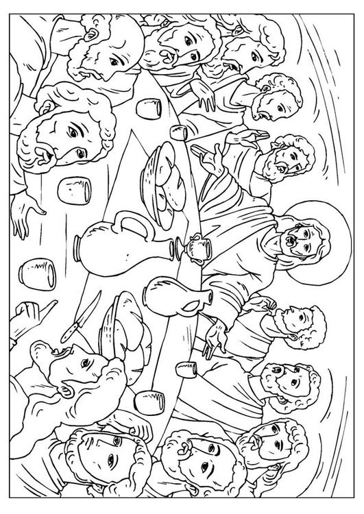 página para colorir a última ceia img 25923