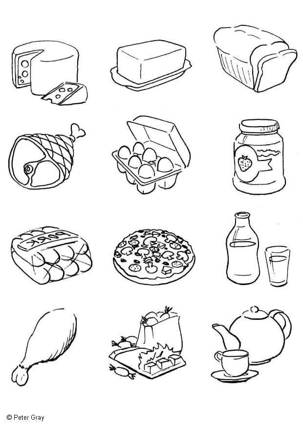 Colorear Alimentos Saludables