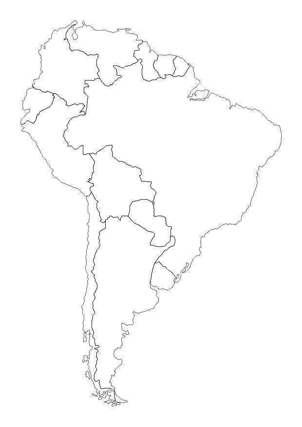 Mapas Da America Do Sul Para Colorir Desenhos Imagixs