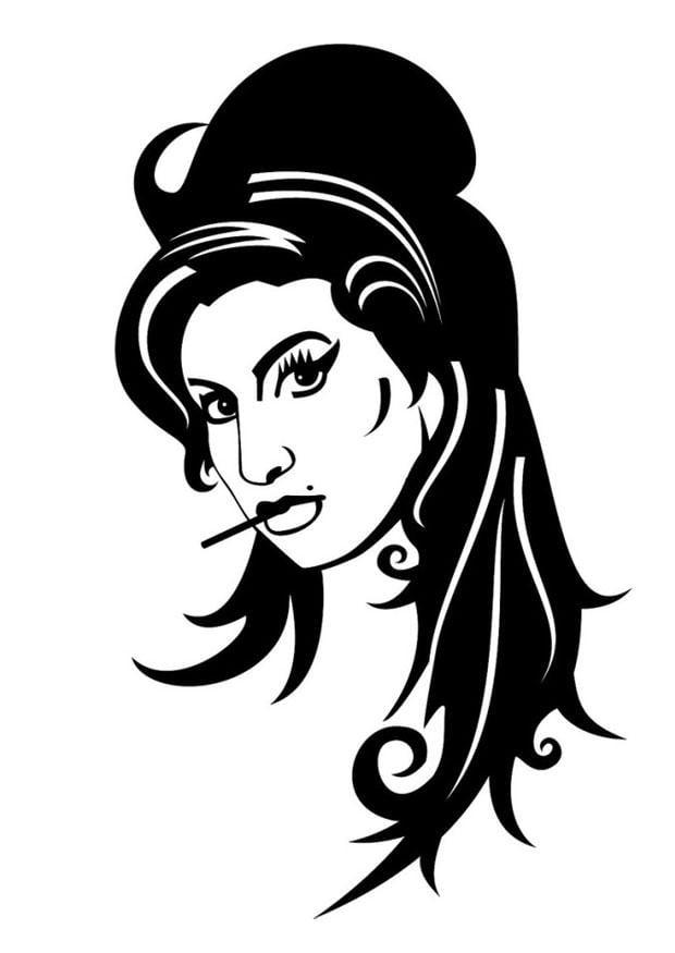 P 225 Gina Para Colorir Amy Winehouse Img 24697