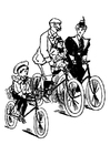 Página para colorir andar de bicicleta