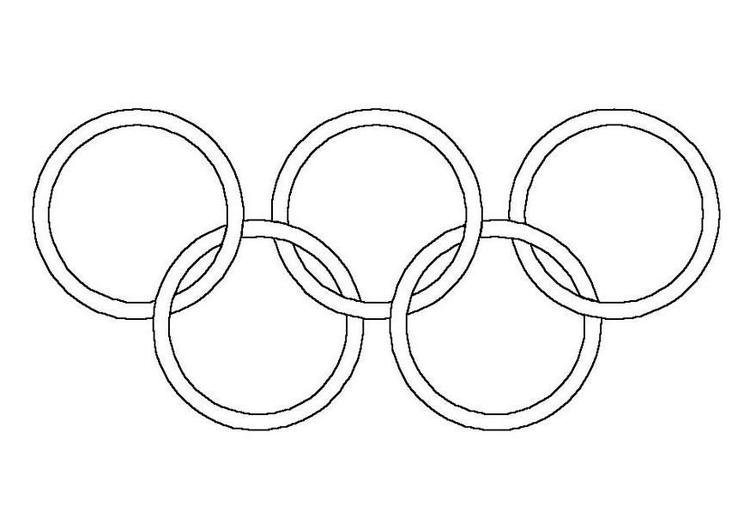 página para colorir anéis olímpicos img 4305