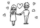 Página para colorir apaixonados