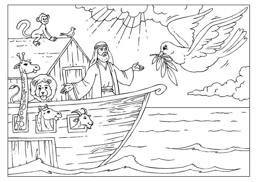 Arca De Nóe Para Colorir: Página Para Colorir Arca De Noé