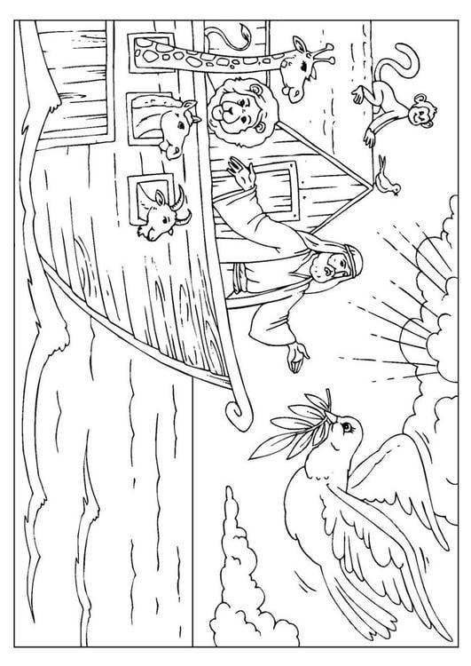 Página para colorir Arca de Noé - img 25999.