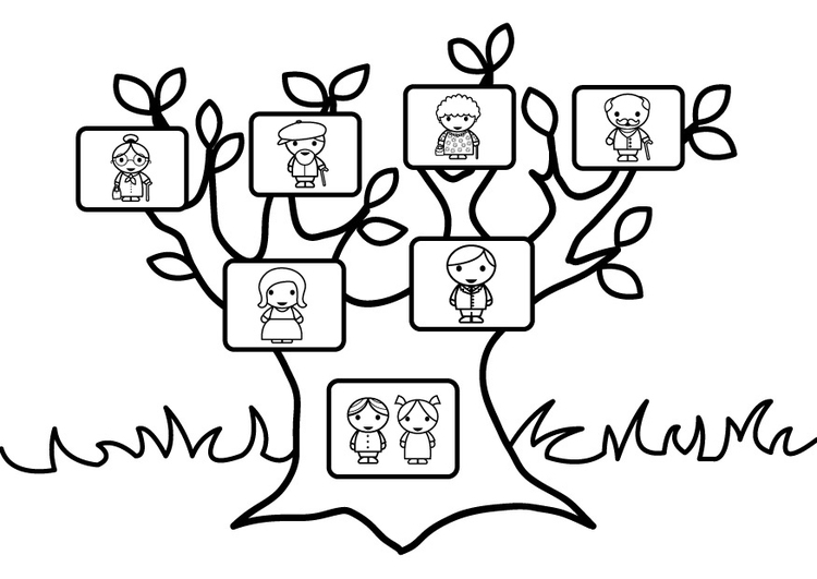 página para colorir árvore genealógica img 26873
