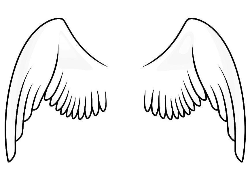 P gina para colorir asas img 20666 for Angel wings coloring pages
