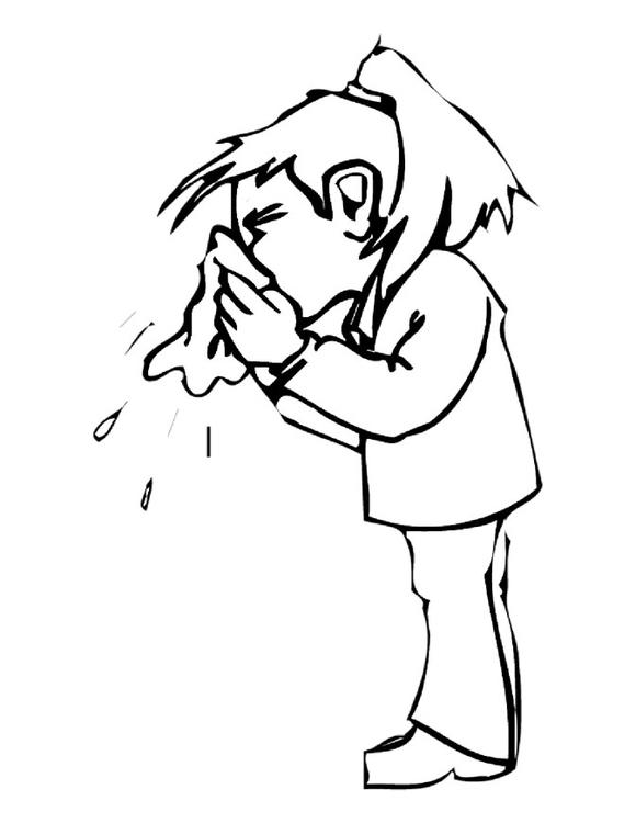 página para colorir assoar o nariz img 19206