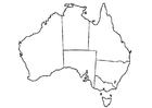 Página para colorir Austrália